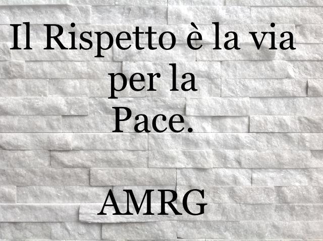 Il rispetto è la via per la pace